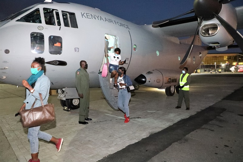 KDF Continues to evacuate Kenyans stranded in Ethiopia