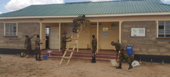 Kenya Army Troops Conducts Cimic Activities In Samburu