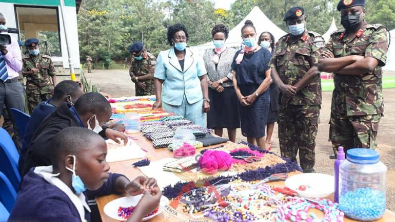 KDF HANDS OVER SPECIAL AID DEVICES TO CHILDREN WITH SPECIAL NEEDS
