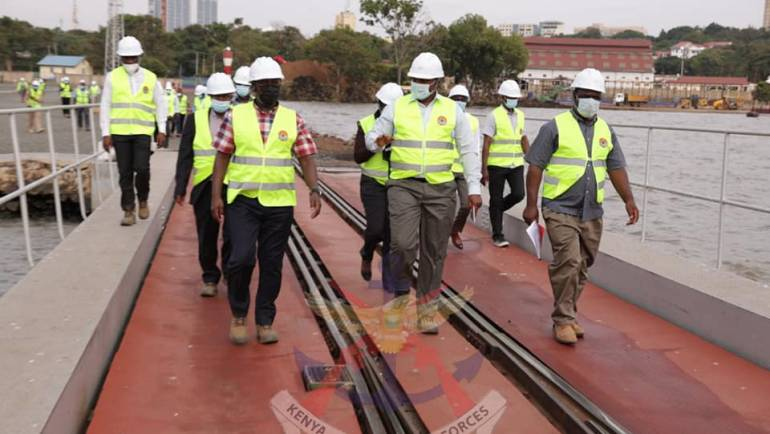 KENYA SHIPYARDS BOARD OF DIRECTORS VISIT KISUMU YARD
