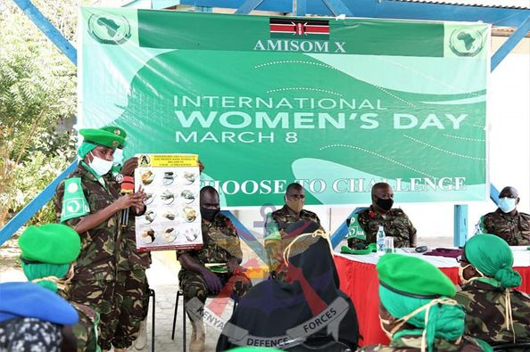 FEMALE KDF SOLDIERS AND SOMALIA SECURITY FORCES MARK INTERNATIONAL WOMEN'S DAY