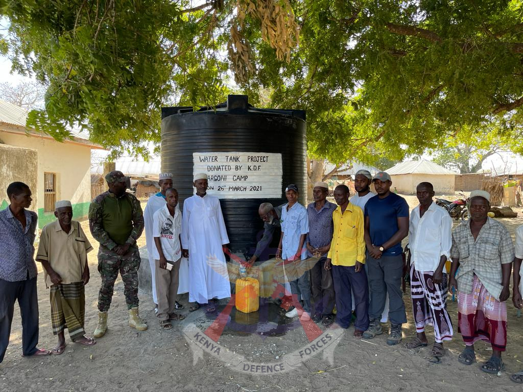 KDF TROOPS SUPPLY CLEAN WATER TO BONI RESIDENTS