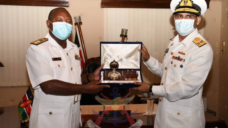 PAKISTANI HIGH COMMISSIONER TO KENYA VISITS THE KENYA NAVY TO ENHANCE MARITIME RELATIONS