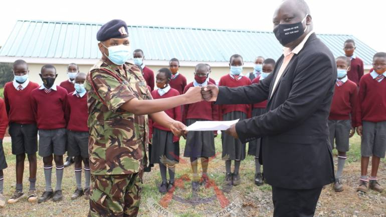 KDF HANDS OVER ABLUTION BLOCK TO UTAFITI PRIMARY SCHOOL IN KERICHO COUNTY.