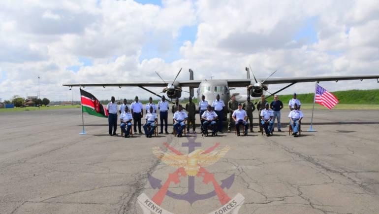 C-145 SKYTRUCK AIRCRAFT COMMISSIONED AT KENYA AIR FORCE.