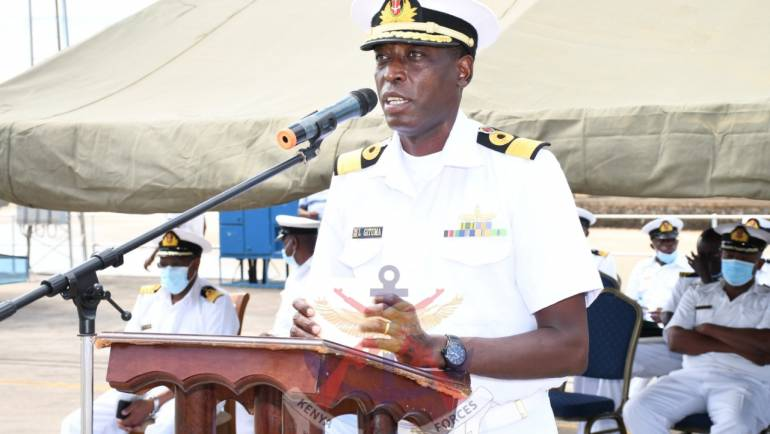 KENYA NAVY FLAGS OFF JUNIOR OFFICERS TRAINING CRUISE