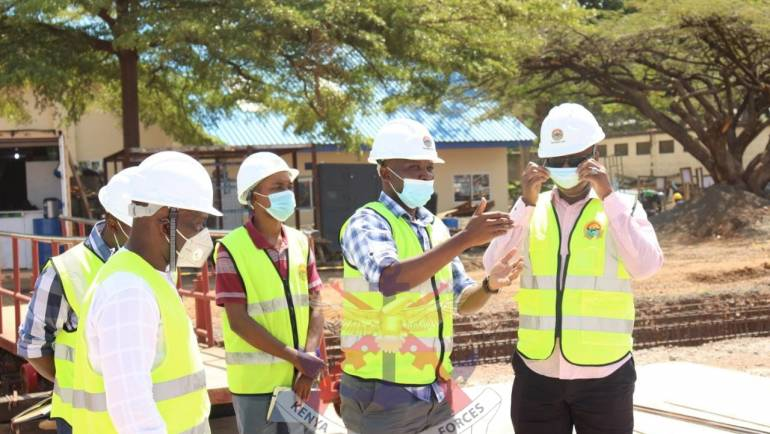 COMMANDER KENYA AIR FORCE VISITS ONGOING PROJECTS