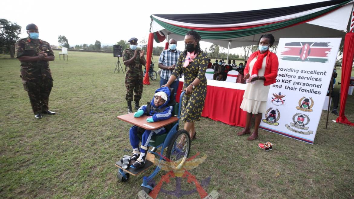 MILITARY WIVES ASSOCIATION GIVE SPECIAL AID EQUIPMENT IN NAKURU