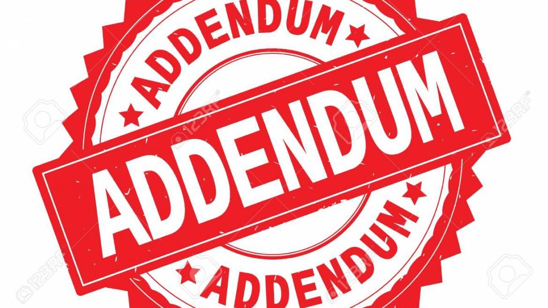 TENDER NO: MOD/INFRAS/024/20/21 ADDENDUM/CLARIFICATION NO: 3