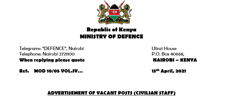 ADVERTISEMENT OF VACANT POSTS (CIVILIAN STAFF)