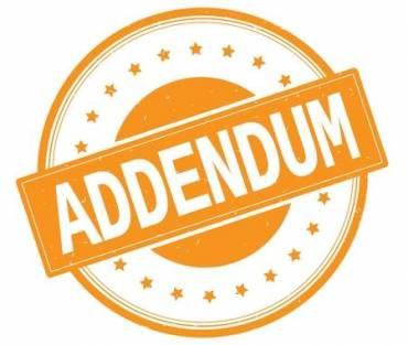 TENDER NO: MOD/INFRAS/024/20/21 ADDENDUM/CLARIFICATION NO: 2
