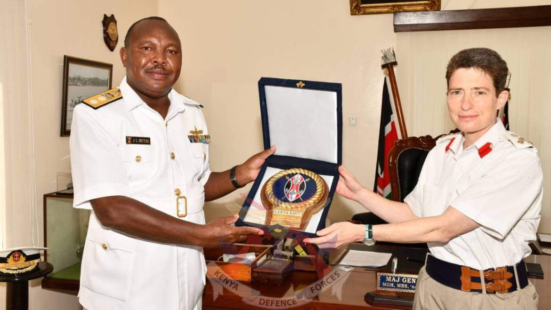 UNITED KINGDOM DEFENCE ATTACHÉ VISITS THE KENYA NAVY