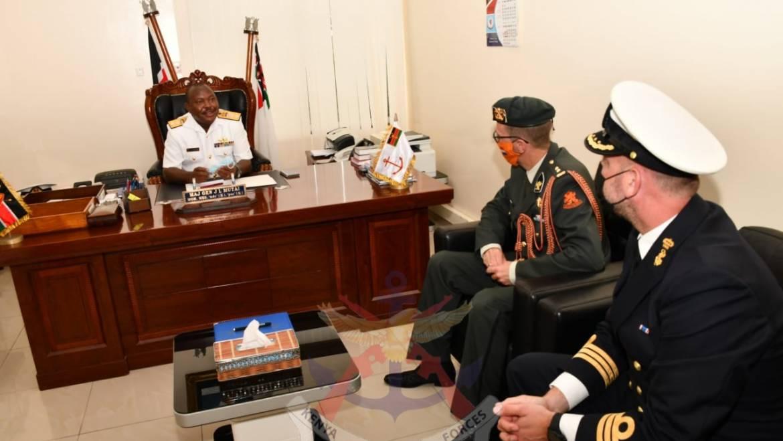 COMMANDER PEPIJN VERSTAND OF THE ROYAL NETHERLANDS NAVY VISITS THE KENYA NAVY HEADQUARTERS