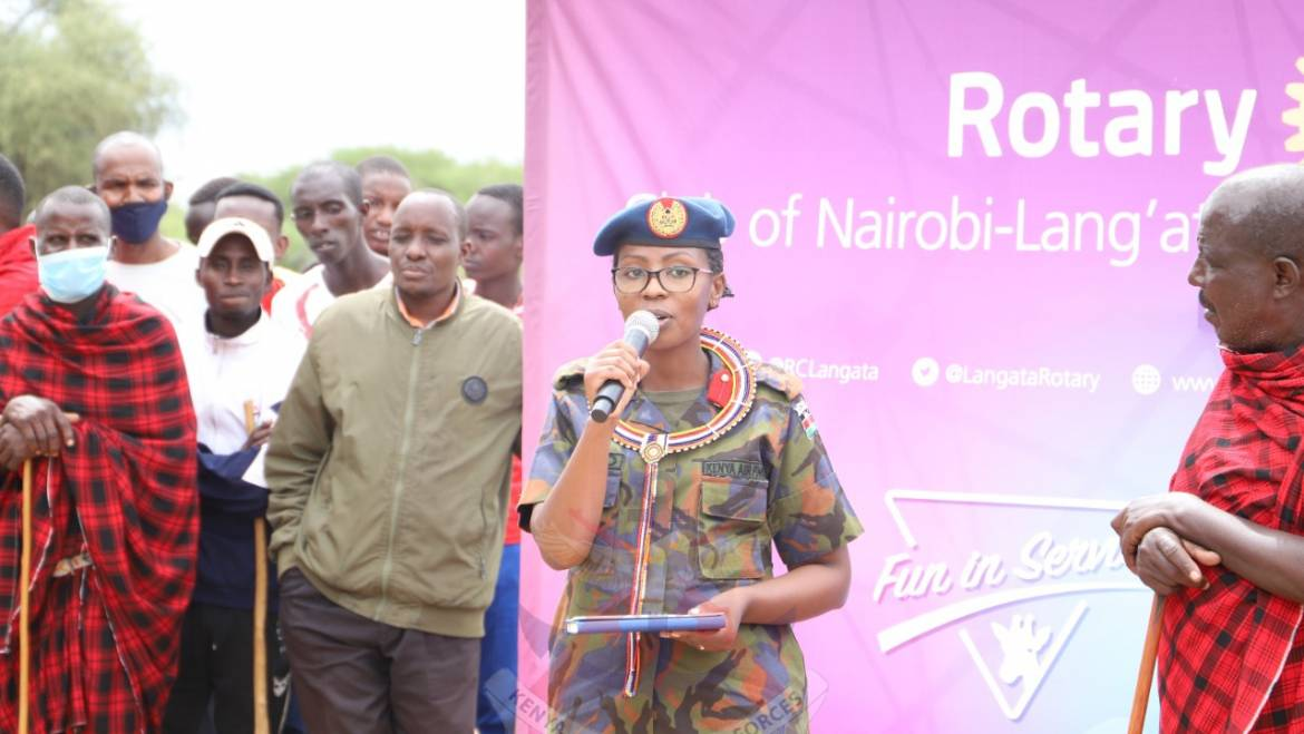 KDF HANDS-OVER OLOOMAIYANA WATER PROJECT TO THE COMMUNITY