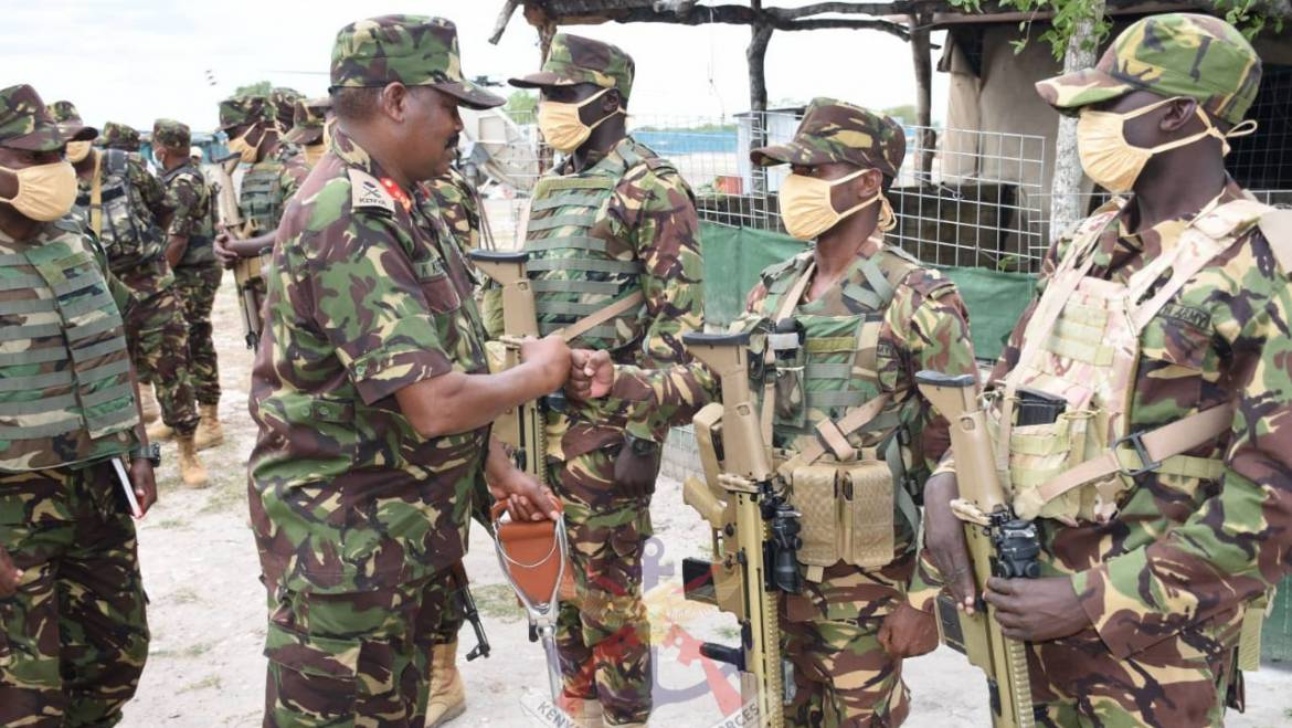 DEPUTY ARMY COMMANDER COMMENDS KDF TROOPS FOR THEIR OFFENSIVE OPERATIONS AGAINST TERRORISM