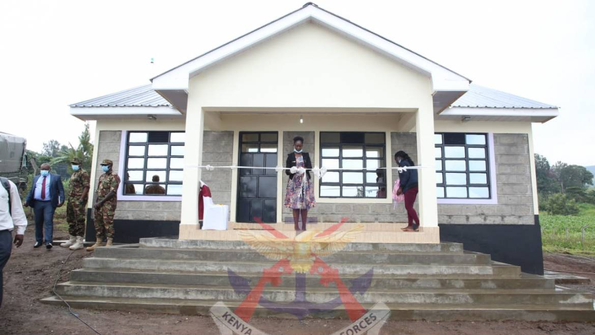 MWAK HANDS OVER HOUSE TO A KDF WIDOW