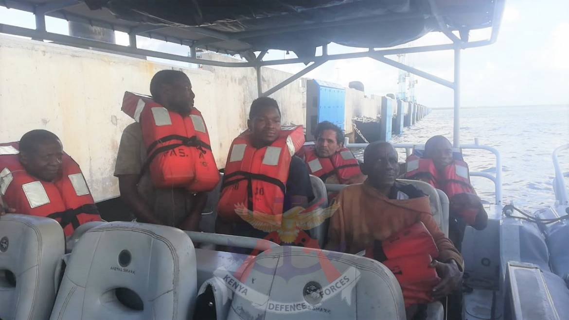 KENYA NAVY RESCUES CREW OF SEVEN FROM A CAPSIZING BOAT