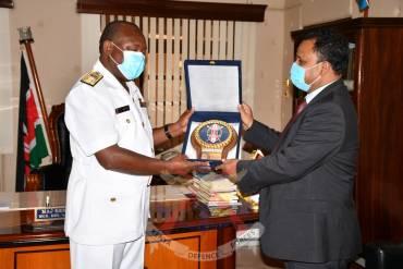 INDIA HIGH COMMISSIONER TO KENYA VISITS KENYA NAVY.