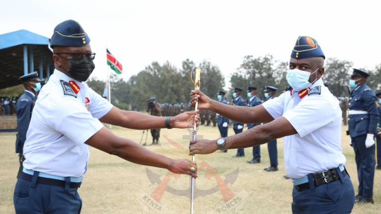 CHANGE OF GUARD AT THE KENYA AIR FORCE HEADQUARTERS