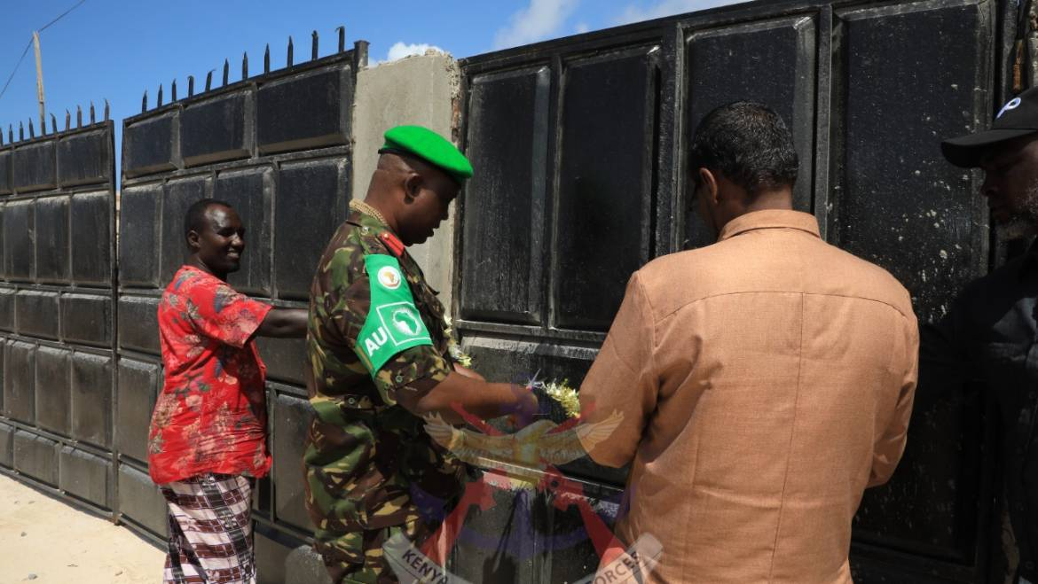 KDF HANDS OVER FOUR CLASSROOMS AND A SPORTS STADIUM AT RAS KAMBONI, SOMALIA