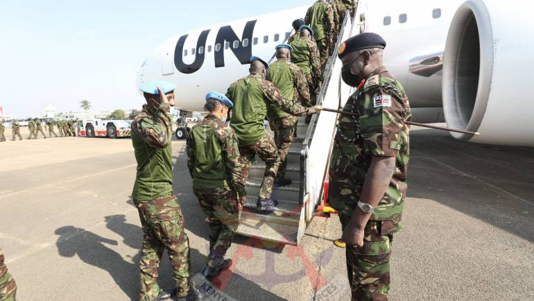 KDF TROOPS OFF TO DRC FOR STABILIZATION MISSION