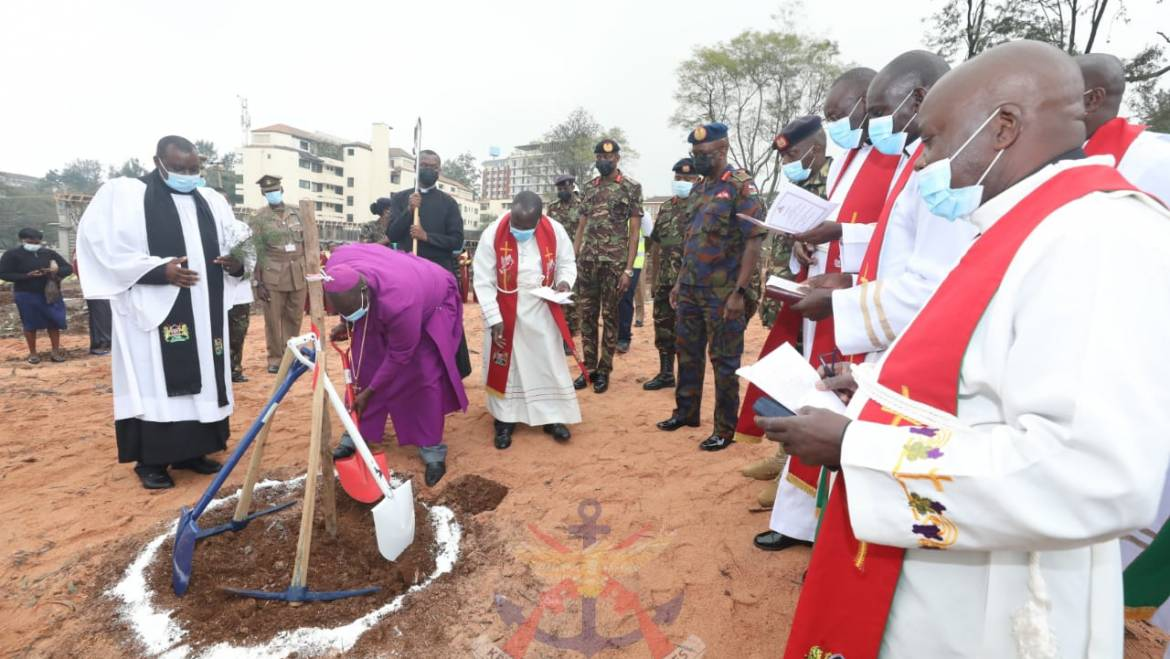 THE ACK CHURCH ARCHBISHOP PRESIDES OVER THE GROUND-BREAKING AND DECONSECRATION CEREMONY