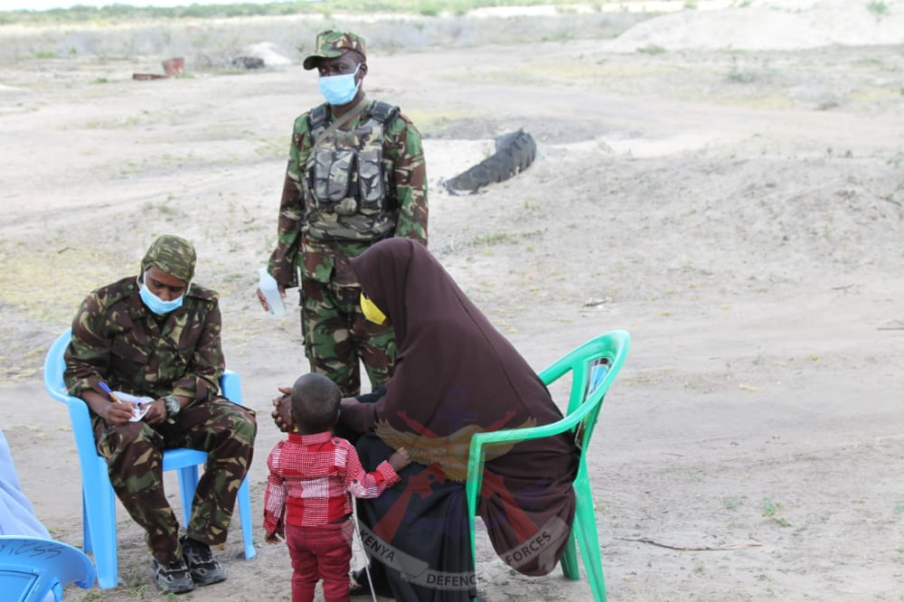 KDF TROOPS PROVIDE FREE MEDICAL CARE TO KOLBIYOW RESIDENTS