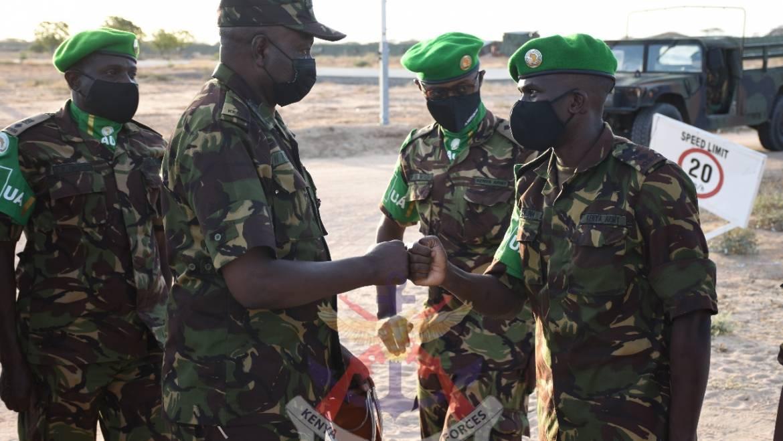COMMANDER KENYA ARMY VISITS TROOPS in SOMALIA