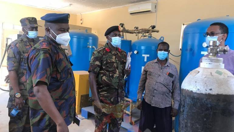 KDF ASSISTS WAJIR HOSPITAL IN RELOCATION AND INSTALLATION OF OXYGEN COMPRESSOR AND TRANSFORMER