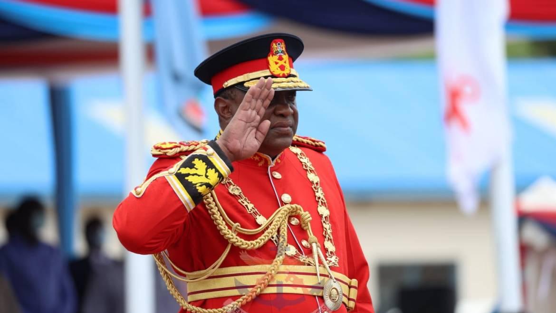 KENYA NAVY BASE MANDA RECEIVES THE PRESIDENTIAL AND REGIMENTAL COLOURS