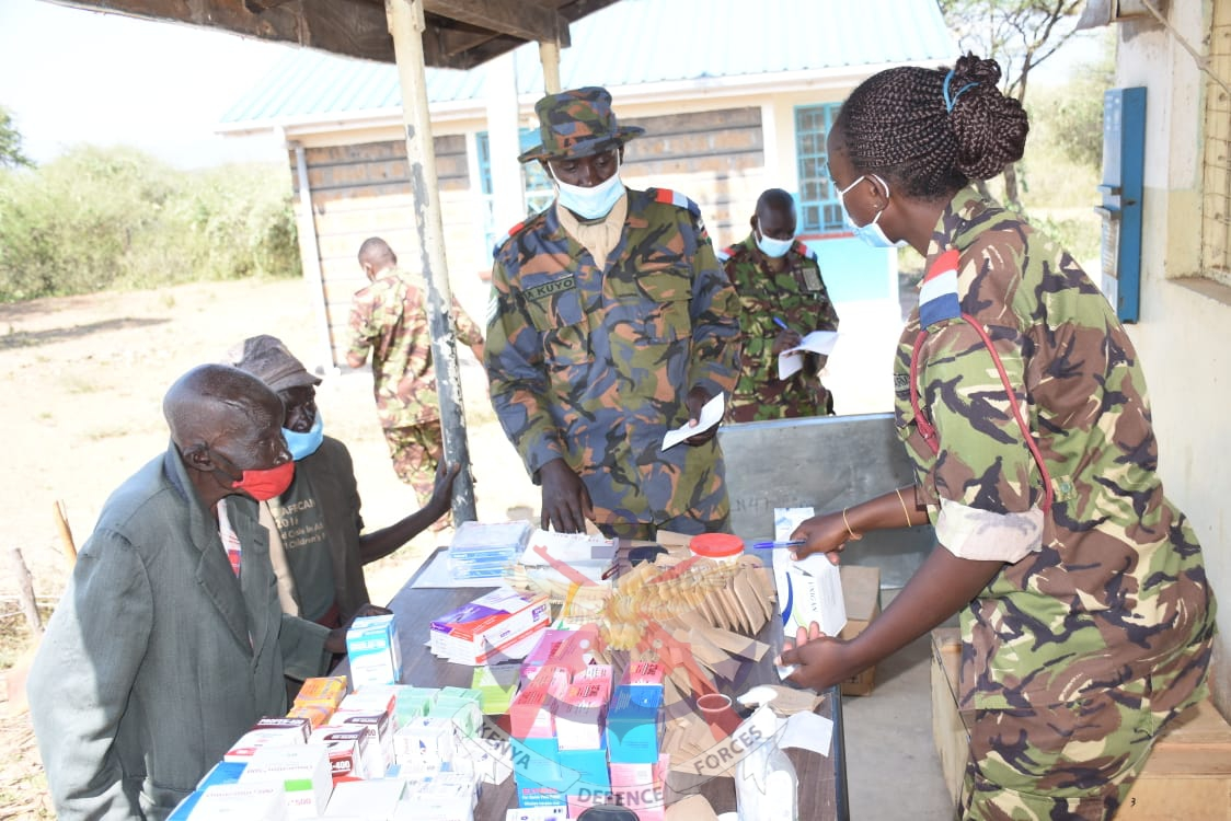 KDF MEDICAL PERSONNEL FROM RECRUITS TRAINING SCHOOL CONDUCT MEDICAL CAMPS IN BARINGO COUNTY
