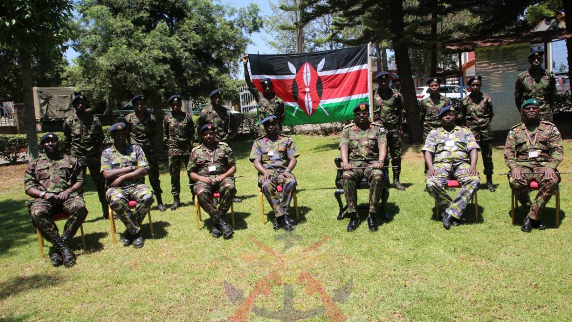 KDF TEAM RECEIVES FLAG AHEAD OF CHAMPIONSHIP IN NIGERIA