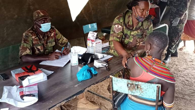 RESIDENTS OF LARISORO RECEIVE MEDICAL CARE FROM KDF