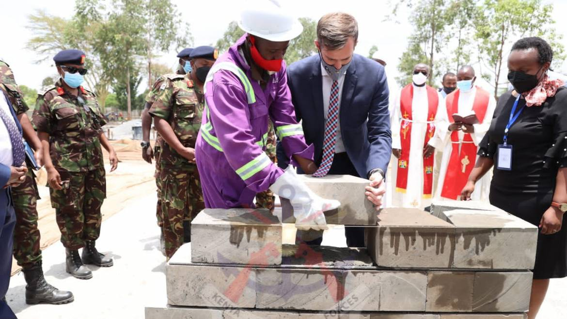 OFFICIAL CORNERSTONE LAYING CEREMONY OF THE COUNTER IMPROVISED EXPLOSIVE DEVICE TRAINING WING